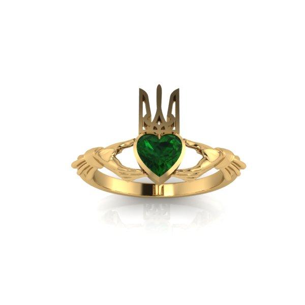 69f6bc7af846 Каталог Золотое кладдахское кольцо украинского патриота с изумрудом ...